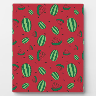 Watermelon Red Pattern Plaque