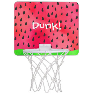 Watermelon Seed Skin Fruit Basketball Hoop Dunk!