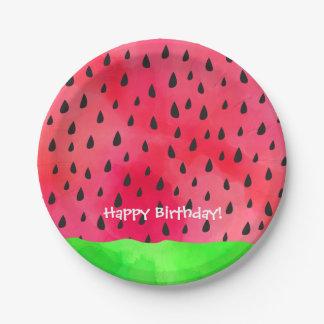 Watermelon Seed Skin Fruit Birthday Paper Plate