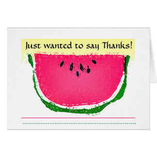 Watermelon sketch Thank You Card