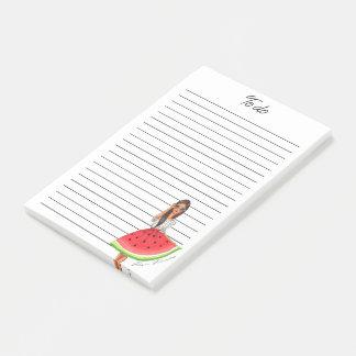 Watermelon skirt brunette post-it notes