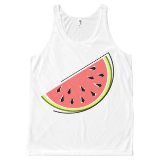 Watermelon Slice all over tank top