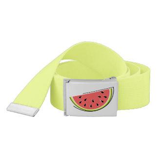 Watermelon Slice belt yellow green