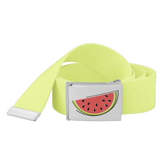 Watermelon Slice belt yellow green