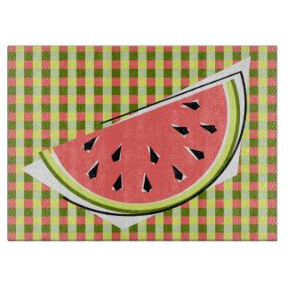 Watermelon Slice Check cutting board