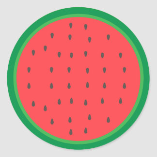 Watermelon Slice Classic Round Sticker