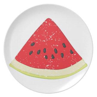 Watermelon Slice Dinner Plate