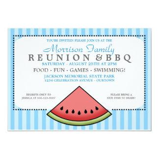 Watermelon Slice Family Reunion Invitations