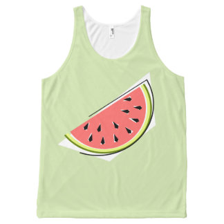 Watermelon Slice Green all over tank top