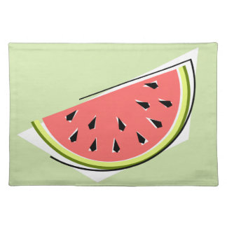 Watermelon Slice Green placemat cloth