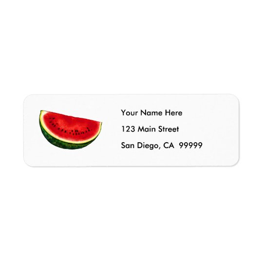 Watermelon Slice Return Address Label