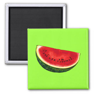 Watermelon Slice Square Magnet