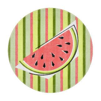 Watermelon Slice Stripe Classic round Boards