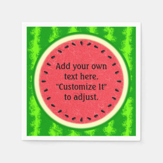 Watermelon Slice Summer Fruit Personalized Disposable Napkin