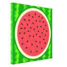 Watermelon Slice Summer Fruit with Rind Canvas Print