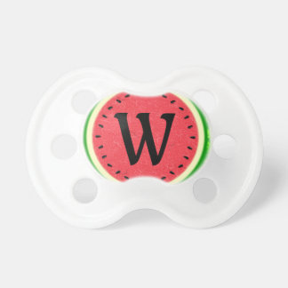 Watermelon Slice Summer Fruit with Rind Monogram Pacifier
