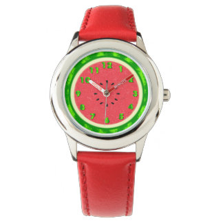 Watermelon Slice Summer Fruit with Rind Watch