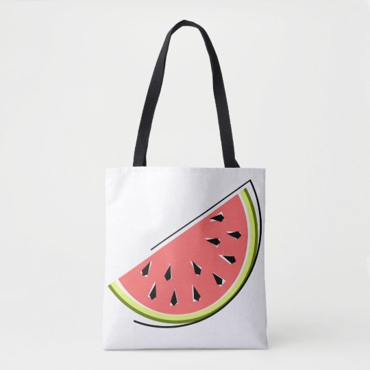 Watermelon slice tote bag