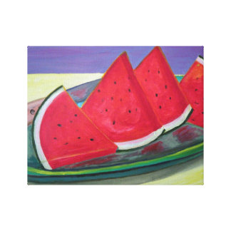 Watermelon Slices Canvas Print