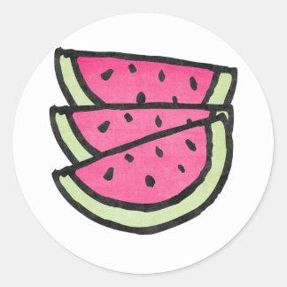 Watermelon Slices Classic Round Sticker