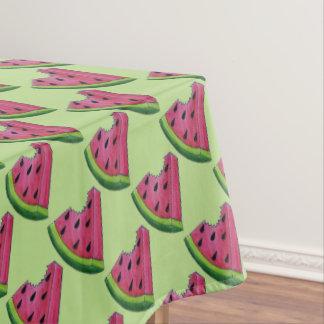 Watermelon Slices Juicy Pink Melon Picnic Print Tablecloth