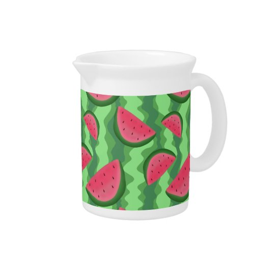 Watermelon Slices Pattern Pitcher