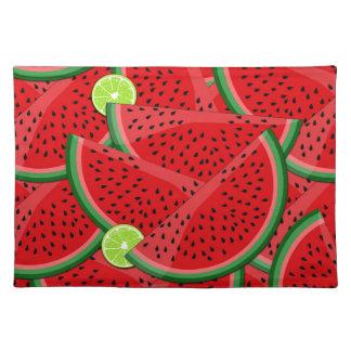 Watermelon slices placemat