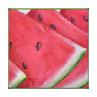 Watermelon Slices - Stretched Canvas Print