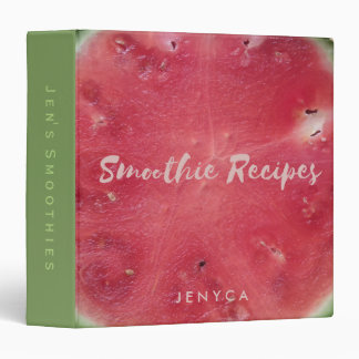 Watermelon Smoothie Recipe Scrapbook Personalized Binders