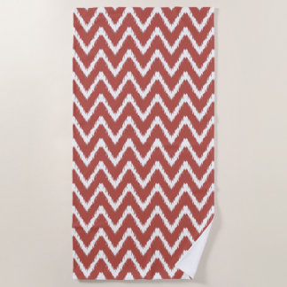 Watermelon Southern Cottage Chevrons Beach Towel