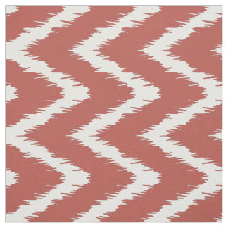 Watermelon Southern Cottage Chevrons Fabric