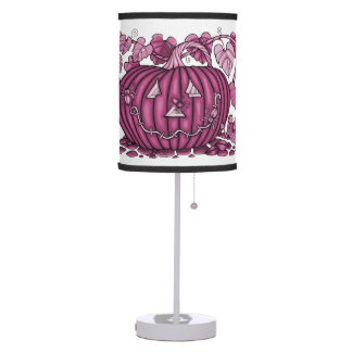 Watermelon Spidery Pumpkin Table Lamp