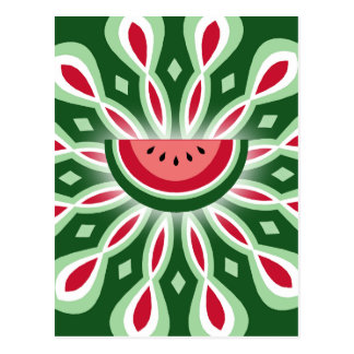 Watermelon Spiral Postcard