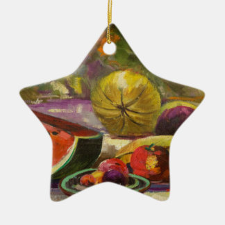 Watermelon Still Life Ceramic Ornament