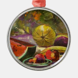 Watermelon Still Life Metal Ornament