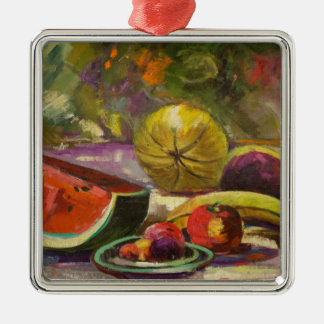 Watermelon Still Life Metal Ornament