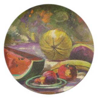 Watermelon Still Life Plate