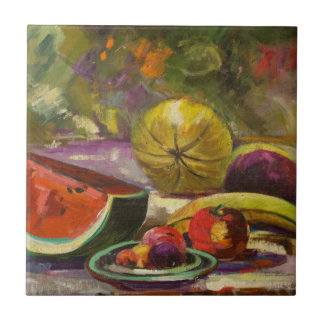 Watermelon Still Life Tile
