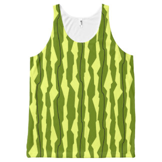 Watermelon Stripe all over tank top