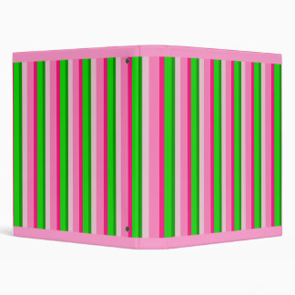 Watermelon Stripe Binder