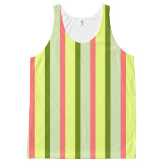 Watermelon Stripe Classic all over vertical All-Over-Print Tank Top