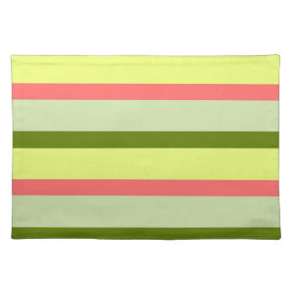 Watermelon Stripe Classic horizontal cloth Placemat