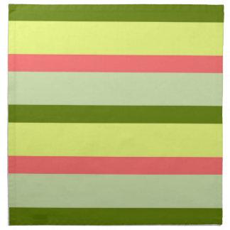 Watermelon Stripe Classic horizontal napkins cloth