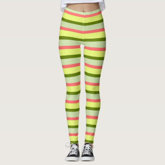Watermelon Stripe Classic leggings horizontal