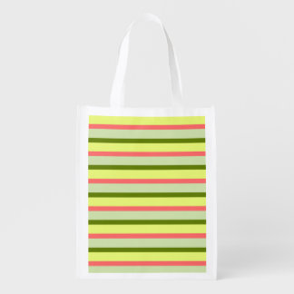 Watermelon Stripe Classic reusable bag