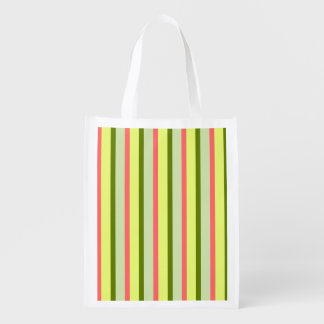 Watermelon Stripe Classic reusable bag vertical