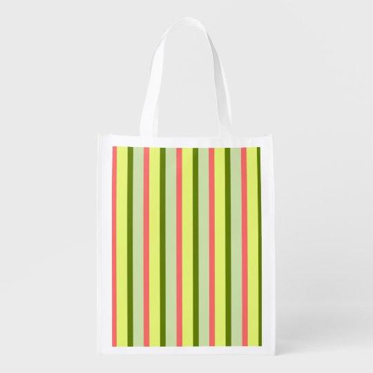 Watermelon Stripe Classic reusable bag vertical