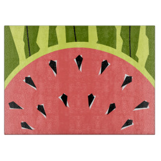 Watermelon Stripe Pink Cutting Board