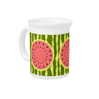 Watermelon Stripe Pink pitcher