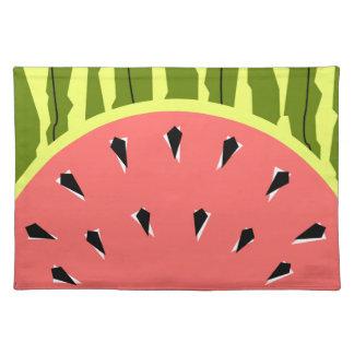 Watermelon Stripe Pink placemat cloth